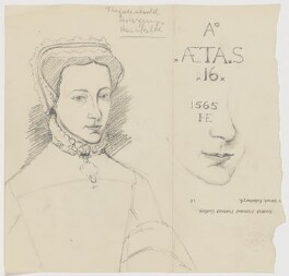 Lady Mary Fitzalan, Duchess of Norfolk, formerly identified as Mary, Queen of Scots, by James L. Caw, after  Hans Eworth - NPG D21663