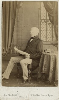 Robert Lowe, 1st Viscount Sherbrooke, by A.J. (Arthur James) Melhuish - NPG x22562