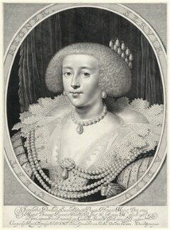 Henrietta Maria, by Willem Jacobsz Delff, after  Daniel Mytens - NPG D22546