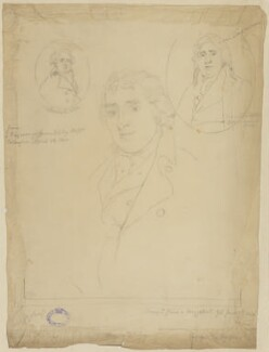 Charles Dibdin, by Sir George Scharf, after  Unknown artist, and after  John Young, after  Thomas Phillips, and after  Benjamin Smith, after  Thomas Kearsley - NPG D21672