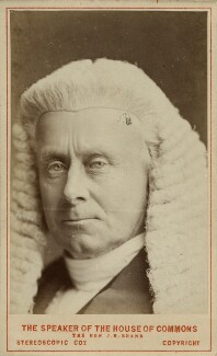 Henry Bouverie William Brand, 1st Viscount Hampden, by London Stereoscopic & Photographic Company - NPG Ax46208