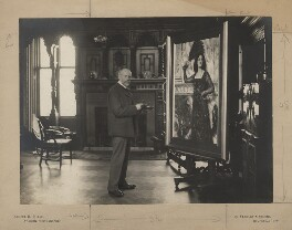 John Collier, by Ernest Herbert ('E.H.') Mills, circa 1894 - NPG x128268 - © National Portrait Gallery, London