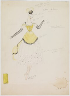 Louise Browne (costume design for Louise Browne for the revue 'After Dark'), by Hedley Gawthorne Briggs - NPG D22549