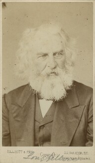 Henry Wadsworth Longfellow, by Elliott & Fry - NPG Ax128387