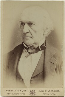 William Ewart Gladstone, by James Russell & Sons - NPG x128429