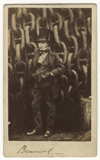 Isambard Kingdom Brunel, by Robert Howlett, published by  London Stereoscopic & Photographic Company, November 1857 - NPG  - © National Portrait Gallery, London