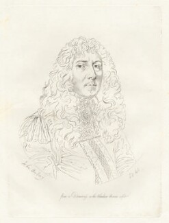 John Aubrey, by Mary Dawson Turner (née Palgrave), after  William Faithorne - NPG D22560