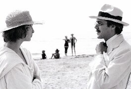 Bjørn Andresen; Sir Dirk Bogarde on the set of 'Death in Venice', by Patrick Lichfield - NPG x128481