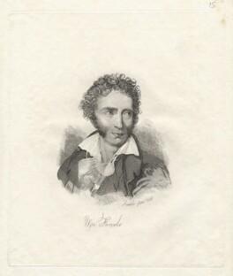 Ugo Foscolo, by Mary Dawson Turner (née Palgrave), after  Henri Jean-Baptiste Victoire Fradelle - NPG D22572