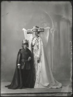 Hon. Henry Anthony Feilding as Henry VII; Agnes Imelda Mary Feilding (née Harding), Viscountess Feilding as Queen Katherine, by Bassano Ltd, 2 June 1932 - NPG x150271 - © National Portrait Gallery, London