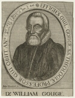 William Gouge, by John Dunstall, after  William Faithorne - NPG D22614