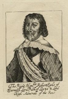 Robert Rich, 2nd Earl of Warwick, by R.S., after  Unknown artist - NPG D22620