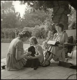Enid Blyton; Gillian Mary Baverstock (née Pollock); Imogen Pollock, by John Gay, 1949 - NPG x128508 - © National Portrait Gallery, London