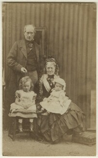 The Armstrongs with their grandchildren, by Unknown photographer, August 1873 - NPG Ax128335 - © National Portrait Gallery, London