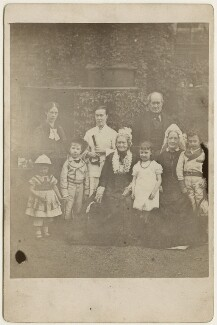 The Hollyer and Armstrong family, by Unknown photographer, mid 1870s - NPG Ax128352 - © National Portrait Gallery, London