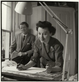 Robin Day; Lucienne Day (née Conradi), by John Gay, circa 1951 - NPG  - © National Portrait Gallery, London