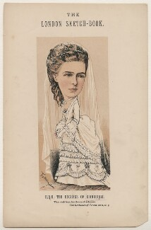 Marie Alexandrovna, Duchess of Edinburgh, by Faustin Betbeder ('Faustin') - NPG D23029