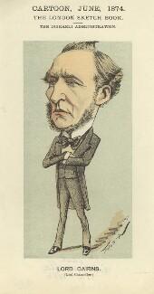 Hugh McCalmont Cairns, 1st Earl Cairns, by Faustin Betbeder ('Faustin') - NPG D23036