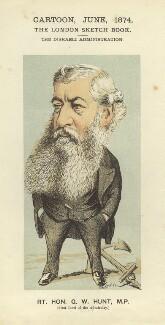 George Ward Hunt, by Faustin Betbeder ('Faustin') - NPG D23038