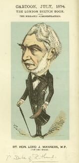 John James Robert Manners, 7th Duke of Rutland, by Faustin Betbeder ('Faustin') - NPG D23041