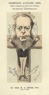 Richard Assheton Cross, 1st Viscount Cross, by Faustin Betbeder ('Faustin') - NPG D23044