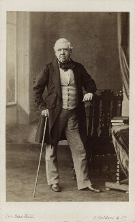 David Roberts, by Leonida Caldesi, or by  Caldesi, Blanford & Co, early 1860s - NPG Ax11916 - © National Portrait Gallery, London