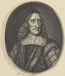 Sir Orlando Bridgeman, 1st Bt, by Robert White, after  William Faithorne - NPG D22651