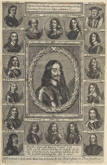 King Charles I and his adherents, published by Samuel Speed, after  Sir Anthony van Dyck, and after  Unknown artists - NPG D22673