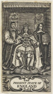 King Charles II; Gilbert Sheldon; Sir Orlando Bridgeman, 1st Bt, by William Faithorne - NPG D22690