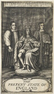 King Charles II; William Sancroft; Francis North, 1st Baron Guilford, after William Faithorne - NPG D22691