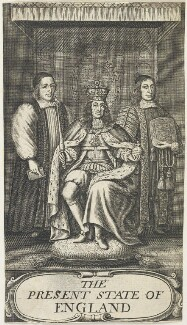 King Charles II; William Sancroft; Francis North, 1st Baron Guilford, after William Faithorne - NPG D22692