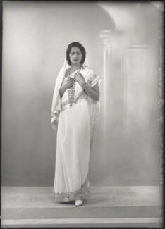 Maharaj Kumari Lalitarni Devi of Burdwan, by Bassano Ltd - NPG x150513