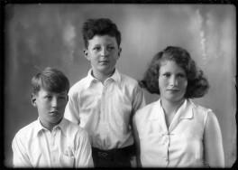 Hon. Vicary Paul Gibbs; Antony Durant Gibbs, 5th Baron Aldenham; (Mary) Theresa Hyde (née Villiers), Lady Wilkinson, by Bassano Ltd - NPG x150603
