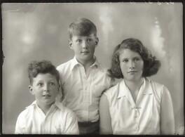 Antony Durant Gibbs, 5th Baron Aldenham; Hon. Vicary Paul Gibbs; (Mary) Theresa Hyde (née Villiers), Lady Wilkinson, by Bassano Ltd - NPG x150604