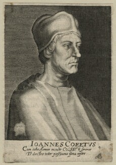 John Colet, by Magdalena de Passe, by  Willem de Passe - NPG D23138