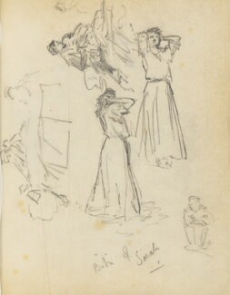 'Bits of Sarah' (Possibly Sarah Bernhardt), by Percy Frederick Seaton Spence, early 1890s - NPG D23134(14b) - © National Portrait Gallery, London