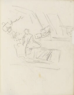 Sketch of a theatre stage, by Percy Frederick Seaton Spence - NPG D23134(12)