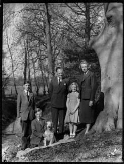 The Allhusen family, by Navana Vandyk, 21 April 1953 - NPG x98998 - © National Portrait Gallery, London