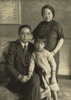 Quo Tai-Chi; Madame Quo Tai-Chi with their son, by Bassano Ltd, 1932 - NPG x85773 - © National Portrait Gallery, London