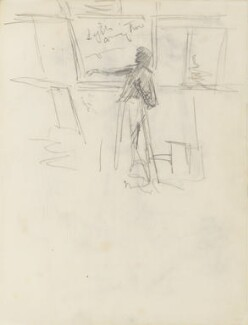 Sketch of an unknown actress onstage, by Percy Frederick Seaton Spence - NPG D23134(14a)