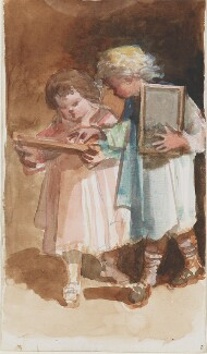Two unknown children, by Louisa Anne Beresford - NPG D23146(16a)