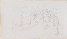 Sketch of a road, by Louisa Anne Beresford - NPG D23146(16b)