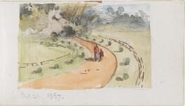 Road with two figures, by Louisa Anne Beresford - NPG D23146(17)