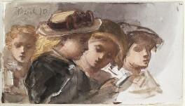 Four unknown children, by Louisa Anne Beresford - NPG D23146(34)
