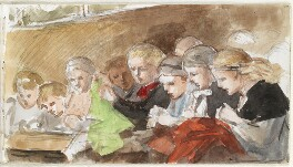 Nine unknown children, by Louisa Anne Beresford - NPG D23146(40)
