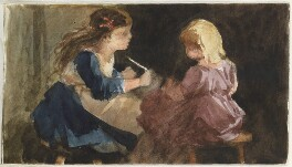 Two unknown girls, by Louisa Anne Beresford - NPG D23146(41a)