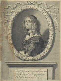Christina, Queen of Sweden, published by William Faithorne, after  Sébastien Bourdon - NPG D22699
