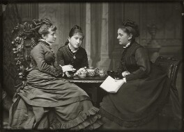 Adelaide Fanny Louise Barber (née Bassano); Camilla Teresa ('Lily') Serjeant (née Bassano); Miss Barnett, by Alexander Bassano - NPG x150672