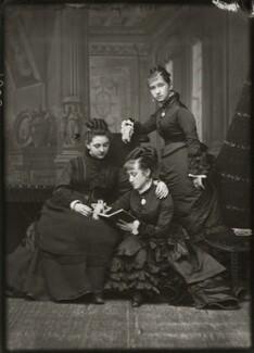 Miss Barnett; Adelaide Fanny Louise Barber (née Bassano); Camilla Teresa ('Lily') Serjeant (née Bassano), by Alexander Bassano - NPG x150673