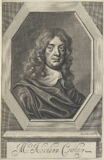 Abraham Cowley, by William Faithorne, after  Sir Peter Lely - NPG D22709